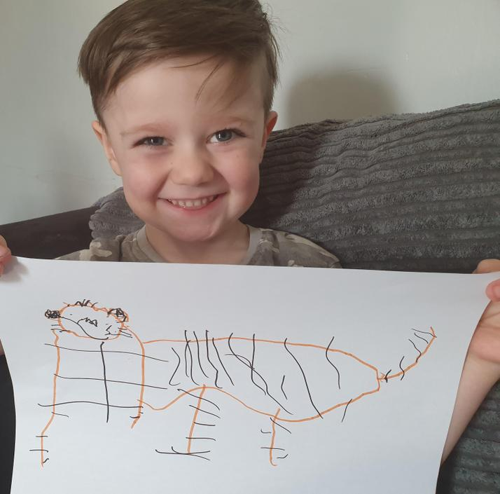 Marshall's marvellous tiger picture!