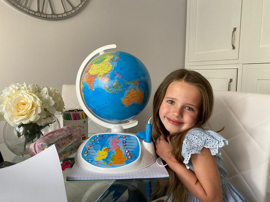 Layla-Rae learning about countries.