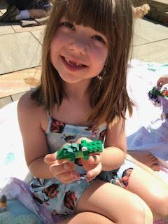 Emma's Lego crocodile.