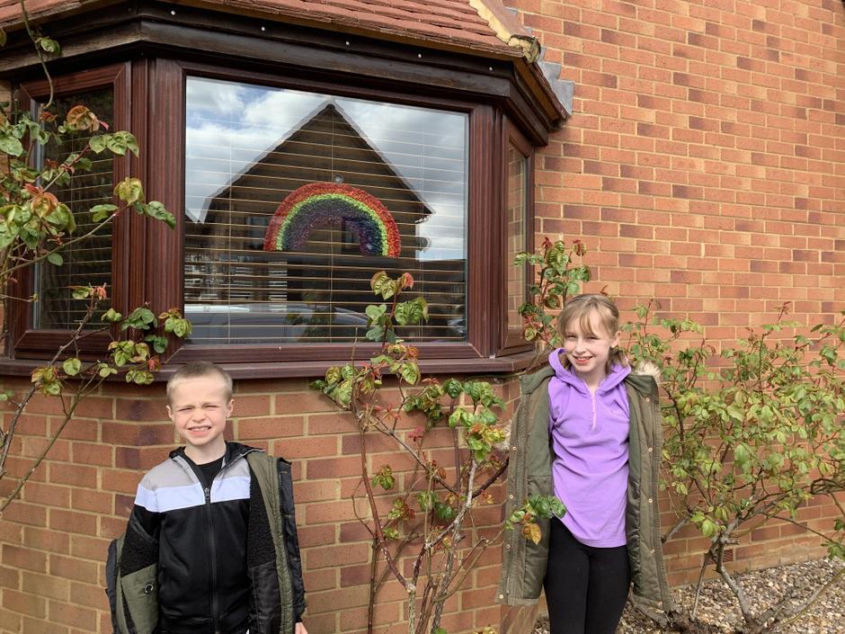 Charlotte and Jack's rainbow