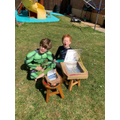 Solar ovens completed but the sun was hiding!