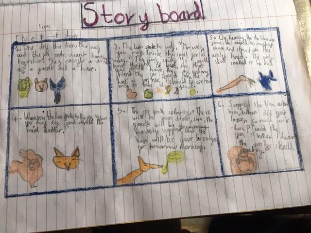 Hamid has produced a colourful story board