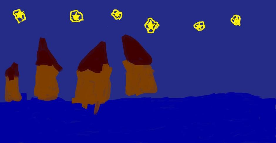 Billy's 'Starry Starry Night' artwork