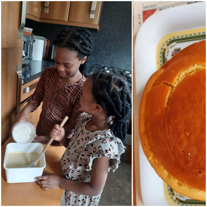 Nifemi and Semilore have baked a cake together