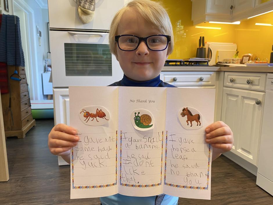 Noah's super writing.