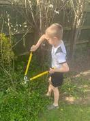 Jack doing a fantastic job in the garden