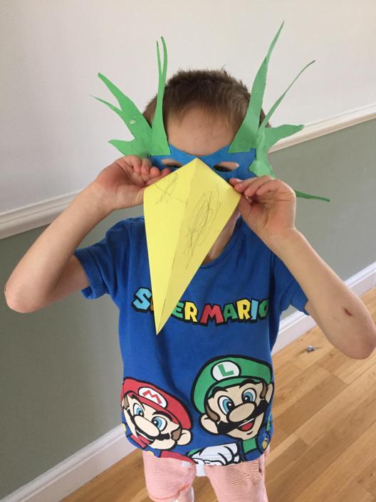 Dylan's excellent mask