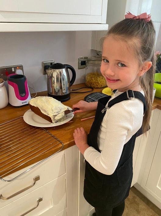 Layla-Rae baking.
