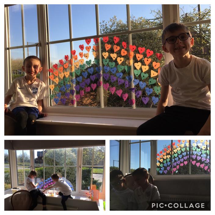 Arthur and Dylan's rainbow