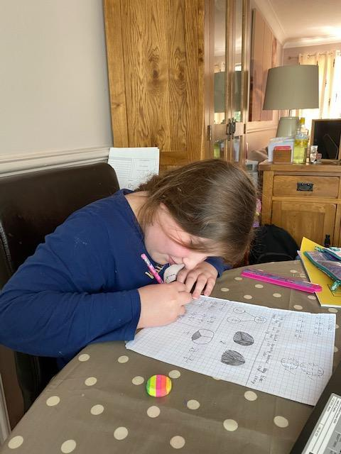 Fearne working hard on fractions