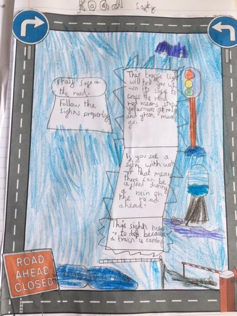 Hamid has produced this Road Safety poster