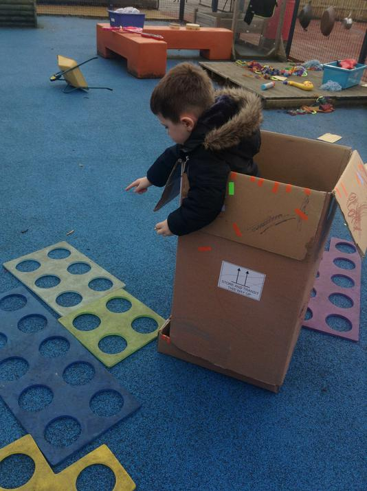 He then used the large Numicon to work it out.
