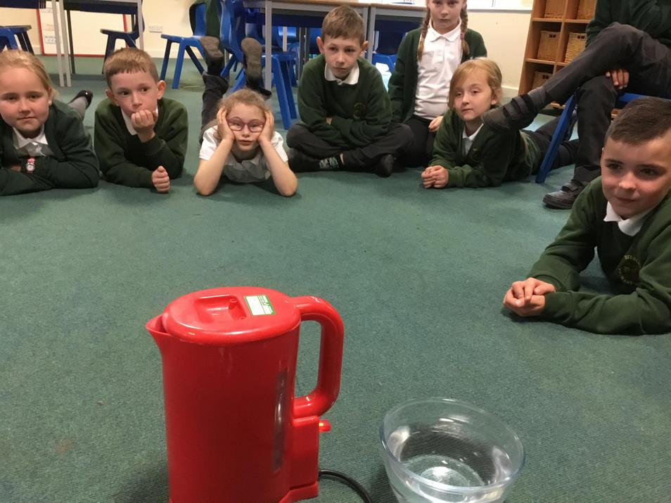 We noticed that the liquid had turned to gas.