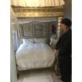 Looking at the Guru's sanctuary.