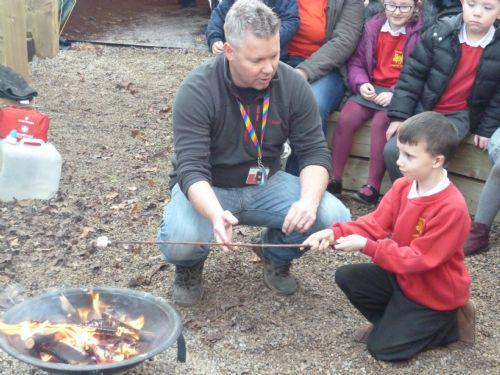 Our pupils showed us how to toast a marshmallow