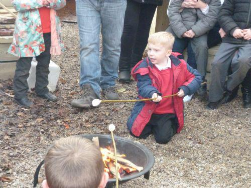 They also joined us around the campfire.