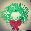 We used our hand prints to create our Wreath