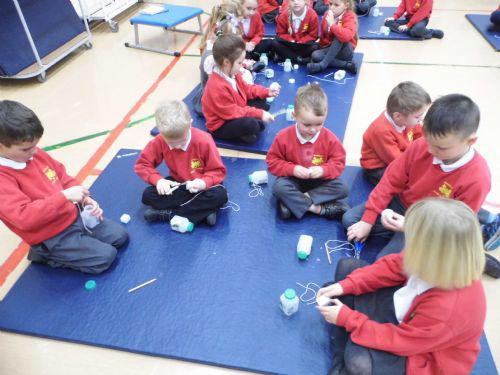 We were challenged to make our own sailing boats