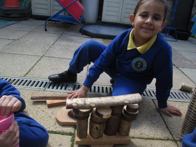 Building and balancing logs.
