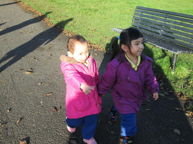 Our walk around the park.