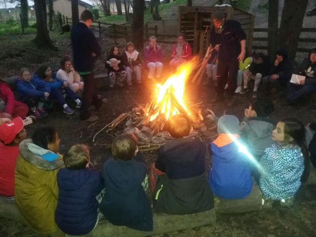 Singing round the camp fire!