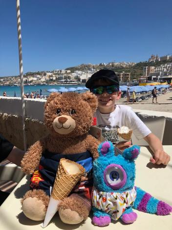 Bradley went to Malta with Colin and Mrs Humes.