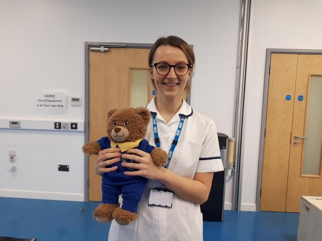 Bradley met Sophie the Physio Therapist.