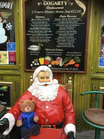 Bradley with Santa in Temple Bar Dublin