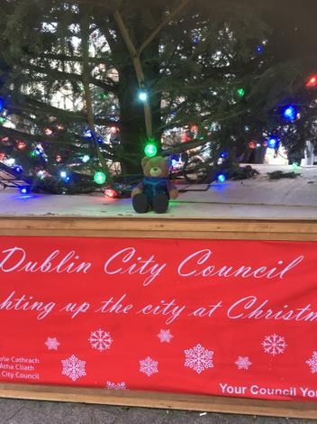 Bradleyat the Christmas Tree-Grafton Street Dublin