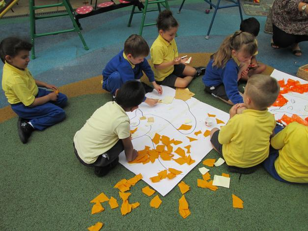 Making the animals from Dear Zoo story
