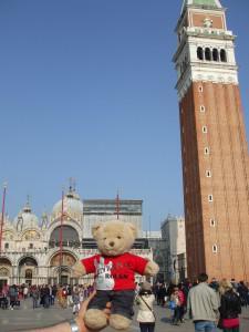 Bradley in St Mark's Square in Venice