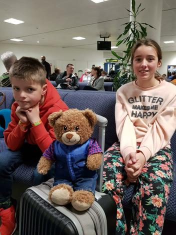 Bradley went on holiday with Mrs Hoare's family.