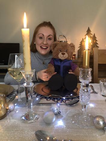 Bradley Bear with Miss Dorman in Ireland