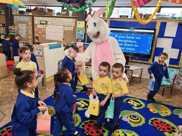 Taking part in an Easter Egg hunt