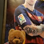 Bradley went to the Barcelona football stadium