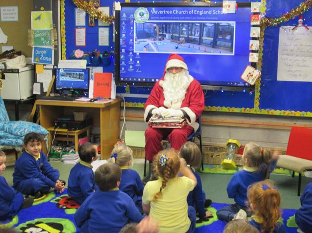 Thank you Father Christmas for our lovely presents