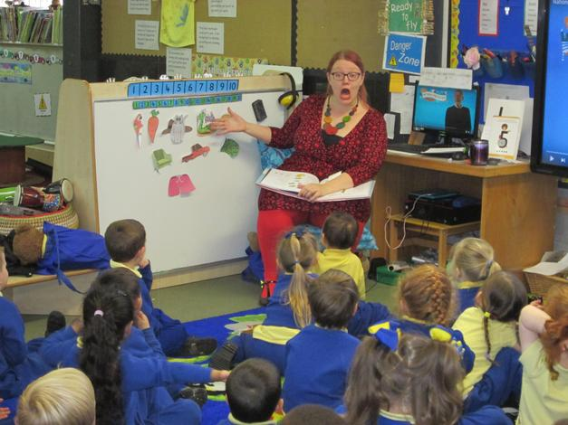 Jenny Holt visited on National Poetry day.