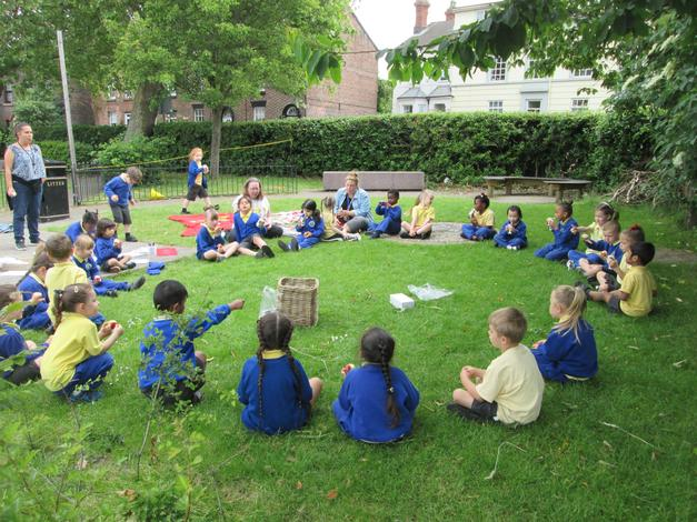 Snack time in the Forest School Area