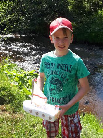 The boat race winner!