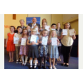 TOP TALENT... pupils at Weddington Primary School proudly show off their certificates