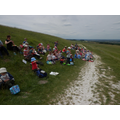 Lunch above The White Horse
