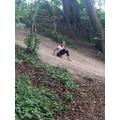 Mud sliding was great fun.