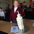 Rebecca's  CAKE Leaning Tower of Pisa