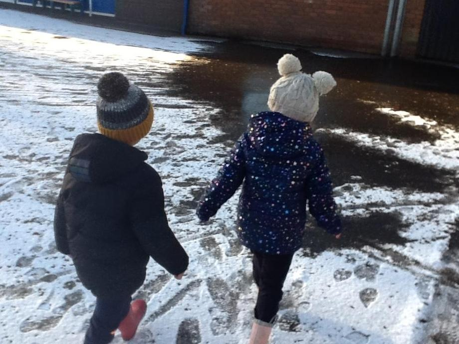A snowy day sensory walk.