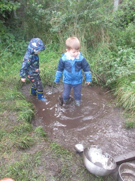 This huge puddle was great to play in!