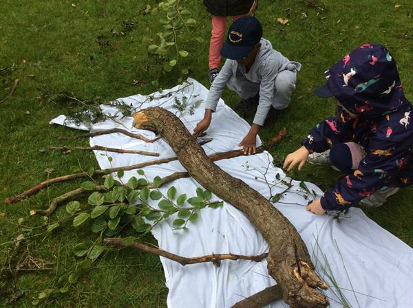 Tree art at Dunham Park