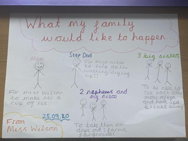 Here is what Miss Wilson's family wanted to happen!