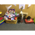 Prizes for our nativity raffle