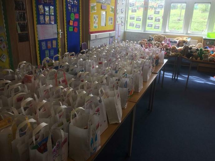 Lucky bag and adopt a teddy stalls