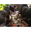 We worked together to make a rangoli.